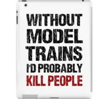 Funny Model Train Shirt iPad Case/Skin