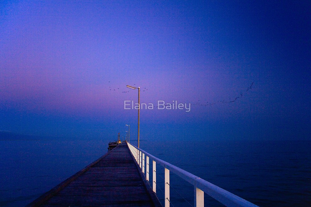 Winter at Beachport Jetty, Beachport by Elana Bailey