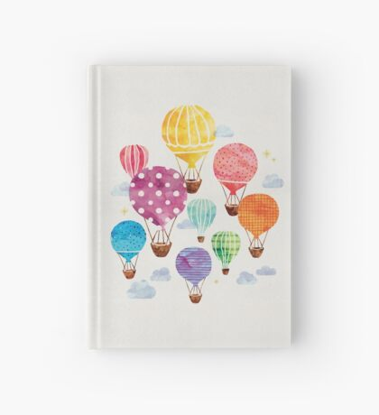 Hot Air Balloon Hardcover Journal
