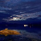 Moon behind the clouds by Frank Olsen