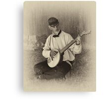 Banjo Player Canvas Print
