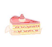 Raspberry Cake Slice by milkytart