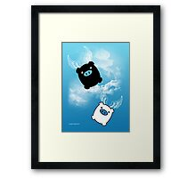 TWIN PIGS FLYING Framed Print