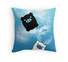 TWIN PIGS FLYING Throw Pillow