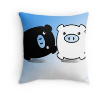 TWIN PIGS  Throw Pillow