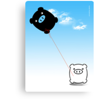 TWIN PIGS KITE Canvas Print