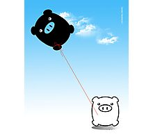 TWIN PIGS KITE Photographic Print