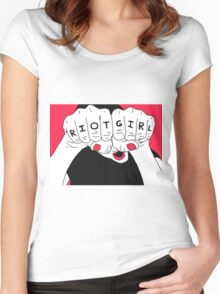 Riot Girl Women's Fitted Scoop T-Shirt