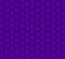 Deep Purple Dragon Scales by Charley Z