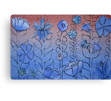 Floral Watercolour Collage 4  Canvas Print