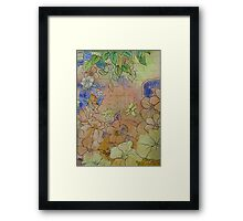 Floral Watercolour Collage 7  Framed Print