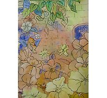 Floral Watercolour Collage 7 by Heather Holland  Photographic Print