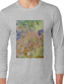 Floral Watercolour Collage 7  Long Sleeve T-Shirt