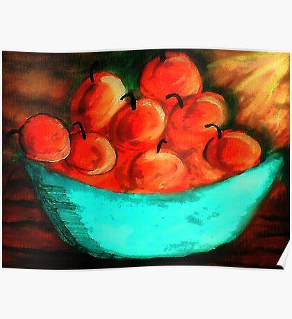 Bowl of Apples #2, watercolor Poster