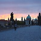 Charles Bridge in Prague by Manuel Gonçalves