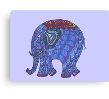 Colourful, patterned, doodle elephant Canvas Print