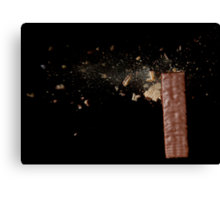Exploding Chocolate Biscuit Canvas Print