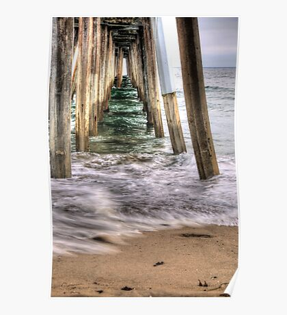 Hermosa Beach Pier HDR Poster