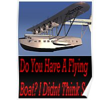 epic flying boat of doom Poster