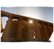 Temple of Concordia, Valley of the Temples, Agrigento, Sicily Poster