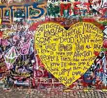 Jonnanova Zed (Jonh Lennon's wall) by Manuel Gonçalves