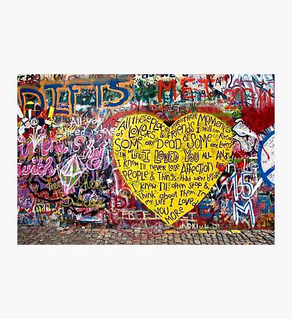 Jonnanova Zed (Jonh Lennon's wall) Photographic Print
