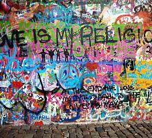 Lennonova Zed (John Lennon's wall) by Manuel Gonçalves