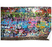 Lennonova Zed (John Lennon's wall) Poster