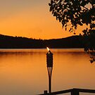 Sunset- Deer Lake, Boyne City, Michigan by Melissa Delaney