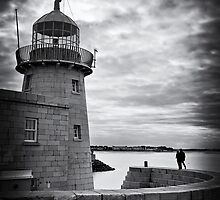 Lighthouse and silhouettes.. by Michelle McMahon