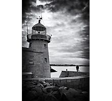 Lighthouse and silhouettes.. Photographic Print