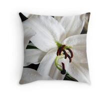 White Lily in Bloom II Throw Pillow