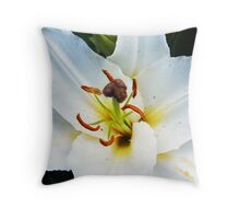White Lily in Bloom III Throw Pillow