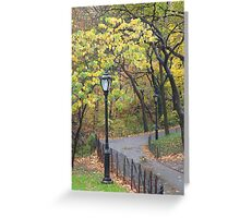 Fall in New York City, New York Greeting Card