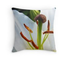 White Lily in Bloom IV Throw Pillow