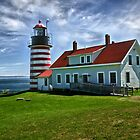 West Quoddy Head Light by Kathy Weaver