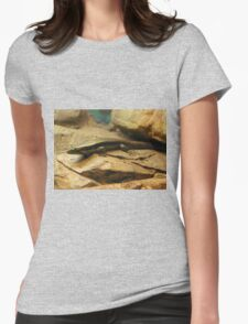 Eastern Water Skink Womens Fitted T-Shirt