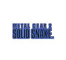 Metal Gear 2 : Solid Snake Mug Photographic Print