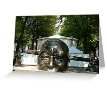 chinese statue2-confucius lee Greeting Card