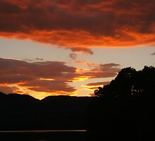 Sunset over Lake of Menteith, Trossachs by Citril