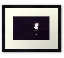 One Candle Framed Print
