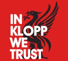 In Klopp We Trust (Red) by Cotza