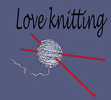 Love knitting - gray background by LyricalSixties