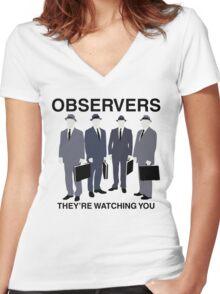 Observers Women's Fitted V-Neck T-Shirt