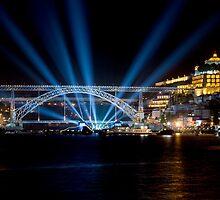 Dom Luis I bridge at night  by homydesign