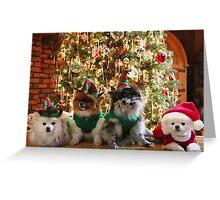 Santa and the Elves Greeting Card