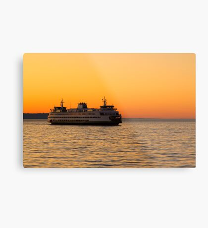 Washington State Ferry Metal Print