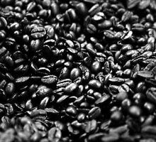 Coffee Beans BW by BalancedArt
