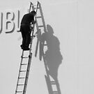 Dubli-N man on ladder by Esther  Moliné
