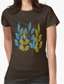 Blue and Gold Autumn Plants T-Shirt
